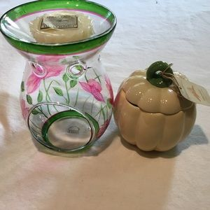 Yankee Candle 2 one Harvest Pumpkin/Glass Flower